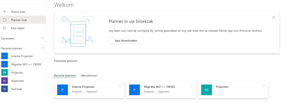 Maak Plannen en Taken met Miscrosoft planner. Samenwerken met Microsoft Planner